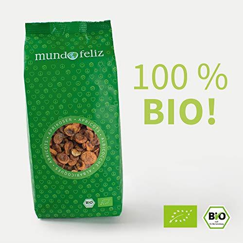 Mundo Feliz Getrocknete entsteinte Aprikosen aus Bio-Anbau, 2 x 500 g