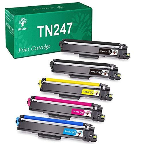 GREENSKY Cartouche de Toner Compatible Remplacement pour Brother TN247 TN243 pour HL-L3210CW HL-L3230CDW HL-L3270CDW MFC-L3710CW MFC-L3730CDN MFC-L3750CDW MFC-L3770CDW DCP-L3510CDW (5 Paquet)