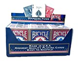 Paket von 12 Pokerkarten Bicycle Standard (6 Blau / 6 Rot)