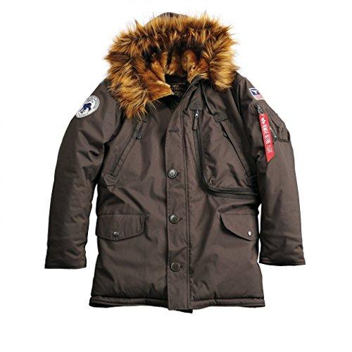 Alpha Industries Herren Parkas Polar Jacket Braun