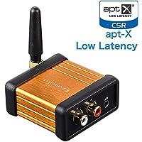 WINGONEER Bluetooth Récepteur audio sans fil Bluetooth V4.2 CSR64215 Soutien APTX pour la musique en streaming Sound System fonctionne avec les téléphones intelligents et les tablettes