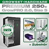 Growbox GrowPRO 2.0 S - Grow Set für Indoor Homegrow - 250W Grow Set Premium