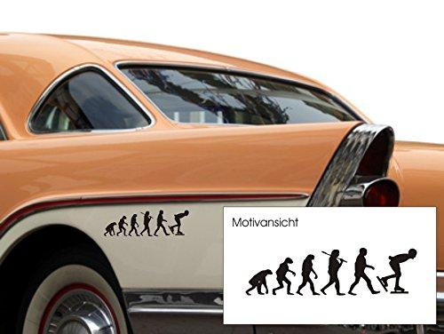 Eisschnelllauf, Fahrzeugaufkleber, Evolution, Eislaufen, 300 mm x 80 mm, verschiedene Farben (M070 Schwarz)