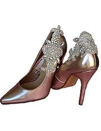 Pretty Pink Toes - Decoración de zapatos de Poliéster Marfil perla talla única wMUOl