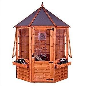 6 m x 6 m, aus Holz, einer Überfälzung versehen, Apex Summerhouse-Octagon, 6 x 6 cm, Holz, Flansche mit Nut und Feder Summerhouses
