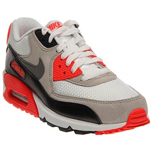 Nike Air Max 90 Prem Mesh (Gs) Scarpe Sportive, Ragazzo white cool grey neutral grey black 100