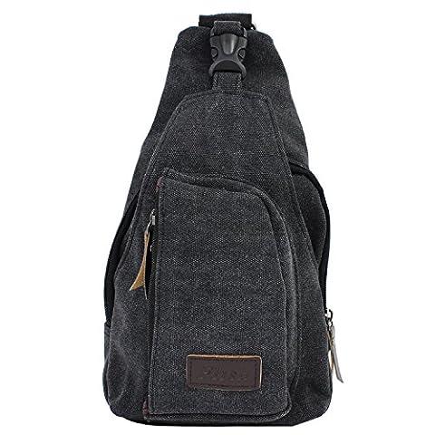 PsmGoods® Männer Umhängetasche Freizeit-Segeltuch-Taschen Reisen Wandern Tasche Rucksack Chest Pouch Sling (Tela Sling)