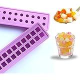 bola de hielo bandejas de cubitos de hielo molde de silicona Mini 20 cavidades del molde moldes de hielo - DIY para los niños con caramelo de la jalea del pudín molde jugo de leche o de cócteles y partículas de whisky púrpura