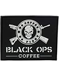 Black Ops Coffee Rubber Patch, negro