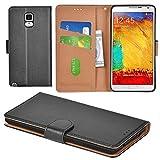 Aicoco Galaxy Note 3 Hülle Schutzhülle Tasche Flip Case für Samsung Galaxy Note 3 Handyhülle - Schwarz