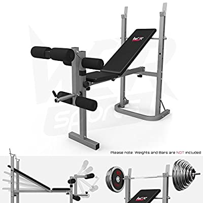 We R Sports® Folding Weight Bench With Weight Rack And Plate Holder 3 Backrest Incline Angles Home Gym Bench from We R Sports
