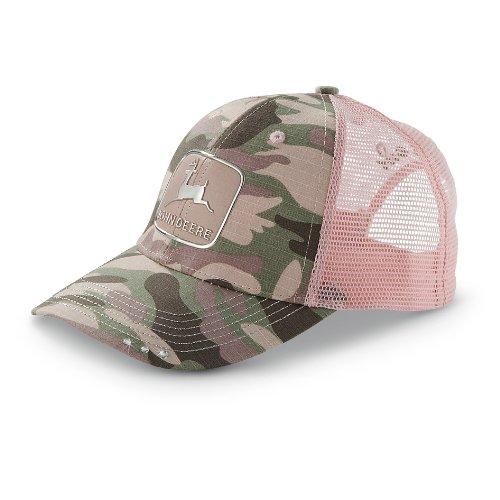 John Deere Rosa Camo Liquid Metal Mesh Hat (Pink John Camo Deere)