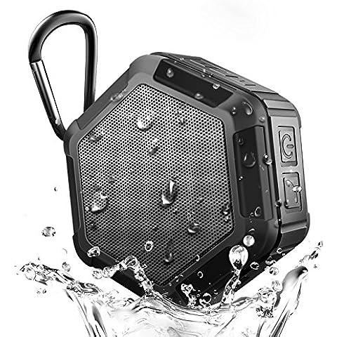 Parlante innalambrico a prueba de agua con Bluetooth, Parlante NFC portatil mini de alta fidelidad al aire libre, parlante manos libres altavoz con microfono incorporado,sonido estereo, 8 horas de reproducción