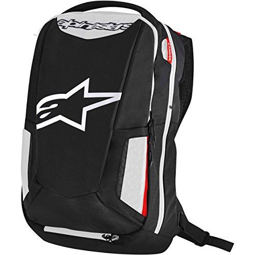 Preisvergleich Produktbild Alpinestars 6107717-123 Motorrad-Rucksack City Hunter Backpack, Black White RED, Schwarz Weiß