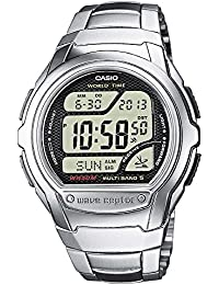 Casio Men's Digital Watch with Stainless Steel Bracelet WV-58DU-1AVES