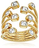 Michael Kors Gold Modern Brilliance Ring, Size 7