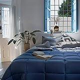 Habita Home EDREDON Azul-Gris SINTET. Iceland (350G) Cama 150 (240x220cm) Color Aluminio/Ultramar