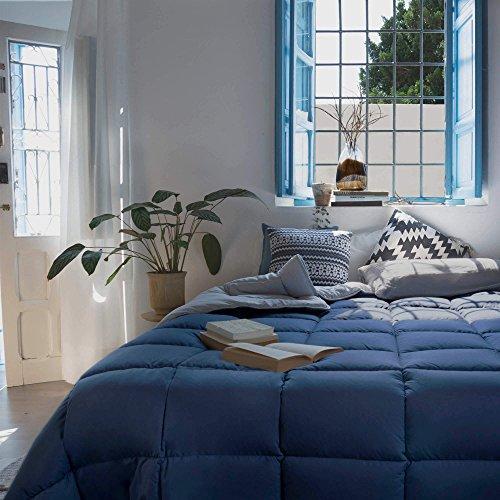 Habita Home EDREDON Azul-Gris SINTET. Iceland (350G) Cama 200 (280x270cm) Color Aluminio/Ultramar