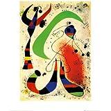 Arte 'Nuit'de reproducción de Joan Miró, Tamaño: 51 x 41 cm