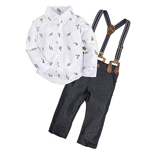 Big Elephant Bebés 2 piezas pantalones camisa conjunto de ropa con las ligas E34