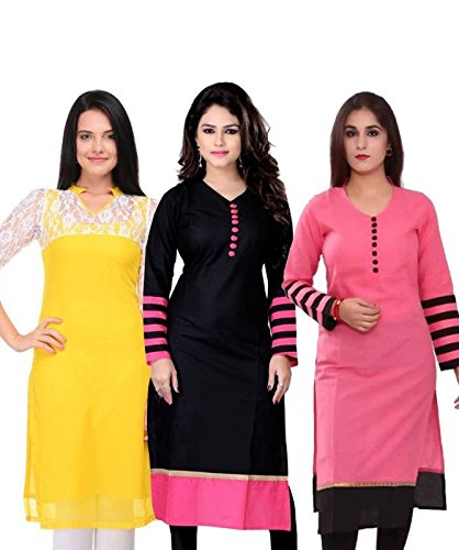 Kurtis for women latest party wear design today offers buy online for low price sale in multi color and Cotton Fabric Free Size Printed Ladies Kurta(semistiched)