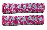 2x Rosa Auto Gurtschutz Sicherheitsgurt Schulterpolster Schulterkissen Autositze Gurtpolster für Kinder/Mädchen und Erwachsene/Frauen - HECKBO