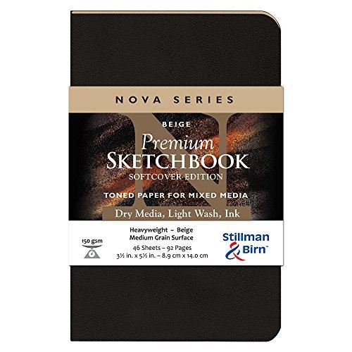 Stillman & Birn Nova Softcover Sketchbook, Beige, 3.5x5.5 Inches
