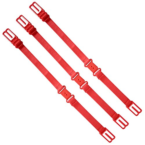 3x-Demarkt-Anti-Rutsch-BH-Trger-Halter-Elastische-Verstellbare-BH-Trger-Magic-Straps-Rot