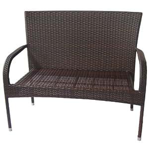 dunloe rattan effect outdoor garden bench. Black Bedroom Furniture Sets. Home Design Ideas