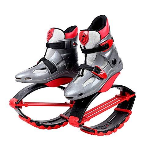 Unisex-Antigravitationlaufstiefel für Erwachsene, zum Rennen, Springen und Hüpfen, mit ca. 20 bis 100kg belastbar L rot