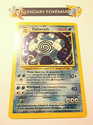 Pokemon Base Set Holofoil Card #13/102 Poliwrath