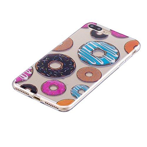 Cover iPhone 7 Plus , YIGA Punto donda Labbra rosse Cristallo Trasparente Silicone Morbido Case Molle TPU Shell Caso Protezione Custodia per Apple iPhone 7 Plus (5.5) WL4