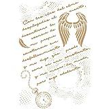 Alles Stencil Deco 221Zusammensetzung Manuskript, Maßnahmen: Stencil 20x 30cm–18x 27cm