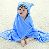 Baby Boys/Girls Bath Bathrobe Cute Bear Hooded Fleece Infant Toddler Bathing Wrap Towel Blanket For Kid 0-6 Years Old