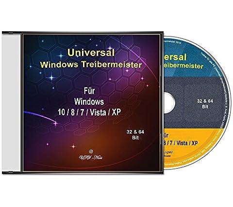 Universal Treiber-Meister CD/DVD für Windows 10 / 8 / 7 / Vista / XP (32 & 64 Bit) alle PC & Laptop Modelle z. B. Acer, Apple, ASUS, BenQ, Clevo, Compaq, Dell, DEPO, eMachines, Fujitsu Siemens, Gateway, Gericom, Gigabyte, HP, IBM, Intel, K-Systems, Lenovo, LG, Matsushita, Medion, MSI, NEC, Packard Bell, Samsung, Sony,