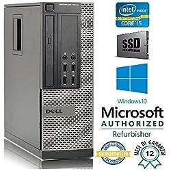 PC RICONDIZIONATO DELL 7010 SFF Intel Core i5 3470 3.20Ghz/RAM 8GB/SSD 240GB/DVD+RW/LICENZA WIN 10 PRO MAR (Ricondizionato Certificato)