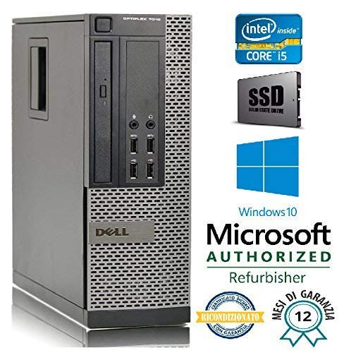 PC RICONDIZIONATO DELL 7010 SFF Intel Core i5 3470 3.20Ghz/RAM 8GB/SSD 240GB/DVD+RW/LICENZA WIN 10 PRO MAR )