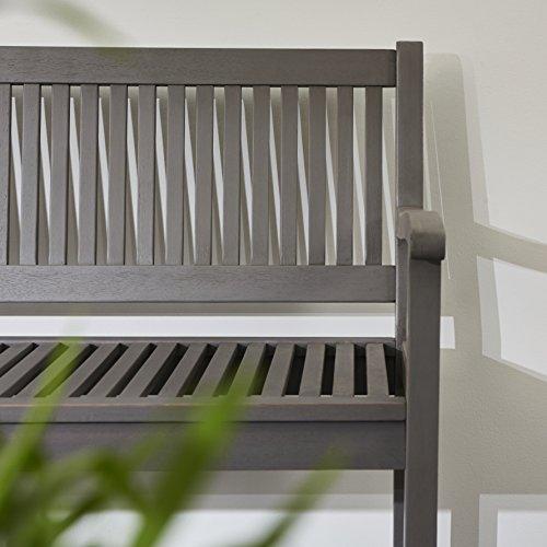 Ultranatura Gartenbank 3-Sitzer, Edles und Hochwertiges Eukalyptusholz, 152 cm x 66 cm x 86 cm - 7