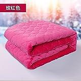 Znzbzt Double couverture couverture étudiant seul hiver couvertures couverture en polaire double épaisseur des couvertures de mariage lits superposés et lit des couvertures, 150x200cm, en rouge