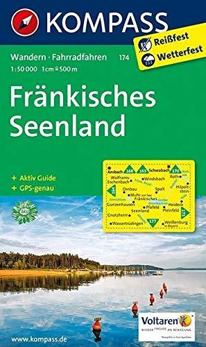 KOMPASS Wanderkarte Fränkisches Seenland: Wanderkarte mit Radwegen und Aktiv Guide. GPS-genau. 1:50000: Wandelkaart 1:50 000 (KOMPASS-Wanderkarten, Band 174)
