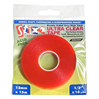 Stix2 12 mm x 15 m Ultra Clear Tape