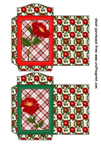 Feuille A4 pour confection de carte de vœux - 2 Wild red rose seed packets 1 par Sharon Poore