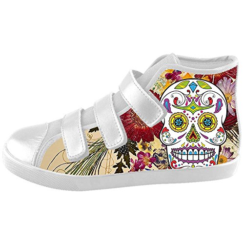 Dalliy Red Rose And Skull Kids Canvas shoes Schuhe Footwear Sneakers shoes Schuhe D