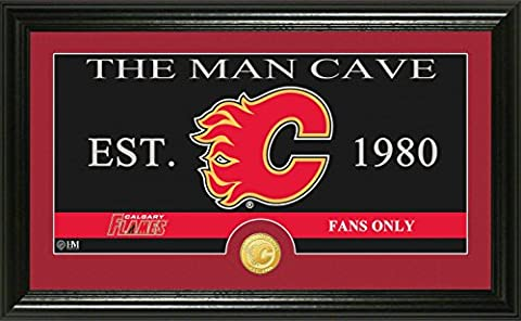 NHL Calgary Flames Man Cave Panoramic Coin Photo Mint, Bronze,