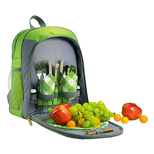 Picknick Im Freien Werkzeug Picknick-Taschen Rucksäcke Grüne Kühltasche Campingbeutel Frisch Geschirr