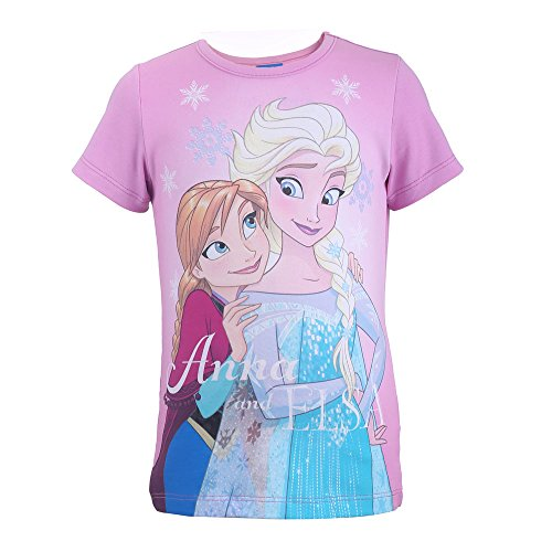 Disney-die eiskönigin 99231, t-shirt bambina, violett (flieder 896), 4 anni