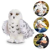 Plush Stuffed Owl Doll, 25 cm Mini Flopsies, White Plush Snowy Owl Soft Toy Cuddly owl Toys Children