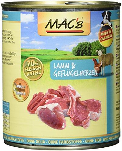 Mac's Lamm & Geflügelherzen, 6er Pack (6 x 800 g)