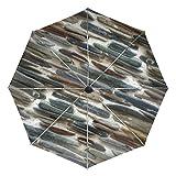 COOSUN Steinwand Automatische 3 Folding Sonnenschirm-Regenschirm Farbe # 002