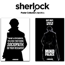 Mc Sid Razz - [ Sherlock Holmes, Benedict Cumberbatch ] Quirky Pack of 2 Poster Without Frame (Sociopath + Mind Palace)